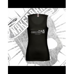 Camiseta Espalda Atleta Mujer (Negra)