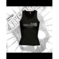 Camiseta Espalda Nadadora Mujer (Negra)