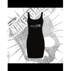 Vestido Camiseta Mujer (Negro)
