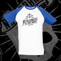 Camiseta Manga Corta Baseball Hombre (Manga Azul)