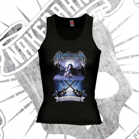 Camiseta Espalda Nadadora Niña (Negra)