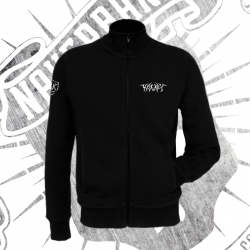 Zip Up Sweatshirt | Unisex (Black)