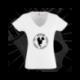 Camiseta Manga Corta Cuello V Mujer (Blanca)