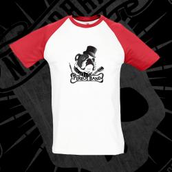 Camiseta Manga Corta Baseball Hombre (Manga Roja)