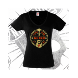 T-Shirt | Short Sleeve (V-neck) | Woman (Black)