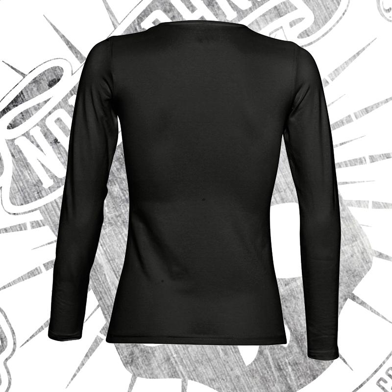 fdf2542c6 ... Camiseta Manga Larga Mujer (Negra) ...