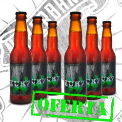 """Pack: 6 x Botellas de Cerveza """"VENENO"""""""