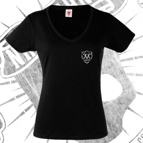 T-Shirt | Short Sleeve (V-neck) | Woman (Black)