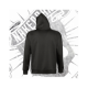 Sudadera con Capucha Unisex (Negra)
