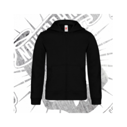 Zip Up Hoodie | Kids (Black)