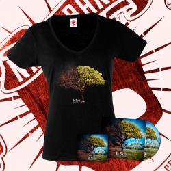 "PACK: Cd ""Re-evolución"" + Camiseta Manga Corta (Mujer) + Pegatina"