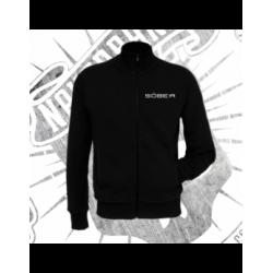 Zip Up Sweatshirt | Unisex (Black)