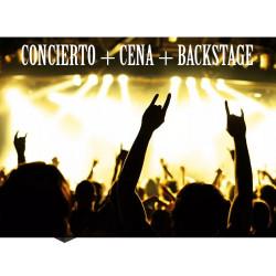 Concierto en tu ciudad+cena + backstage